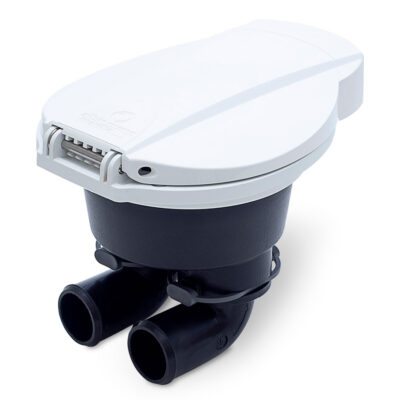 Albin Manual Bilge Pump - Flush Mount, White for 25 and 38mm Systems