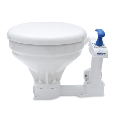 Albin Manual Marine Toilet - Comfort Model, Ideal for Tight Spaces