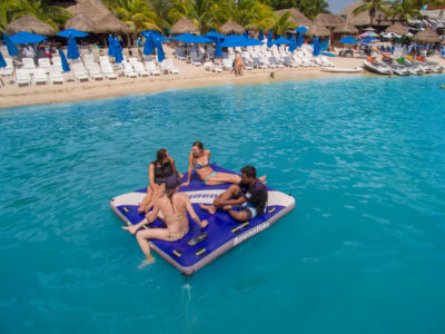 Aquaglide Airport Classic - Floating Inflatable Lounger Platform & Towable