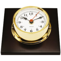 Autonautic Gold Plated Clock R95P - SALE
