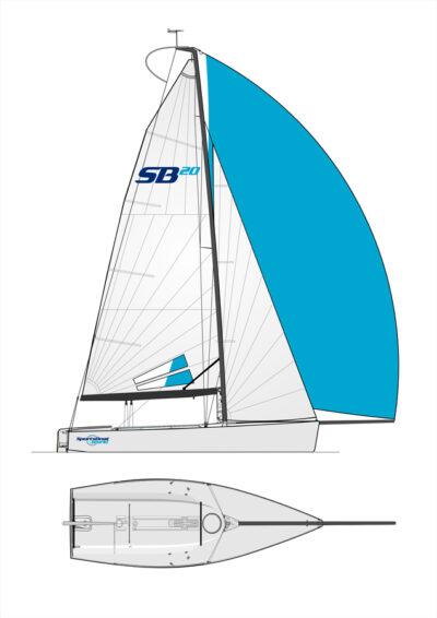 Laser SB3 (SB20) 6.15m Keelboat