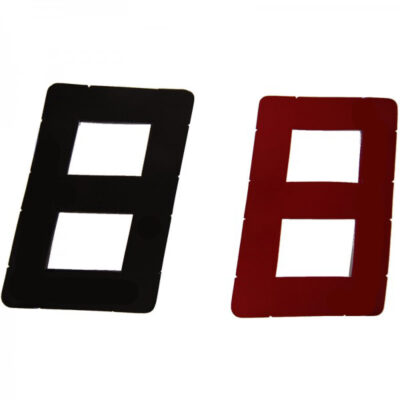 Sail Numbers - Black and Red 9""