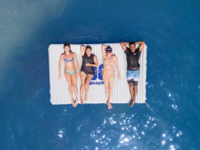 Aquaglide Sun Seeker Splash Pad - Floating Inflatable Lounger Platform