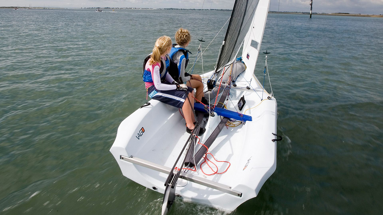 Double Pad Eye  for Laser Sailboat  upgraded lines