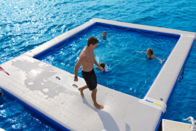 Aquaglide Ocean Pool - portable Floating Pool With Mesh Net For Yachts and Junks