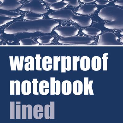 Waterproof Lined Notebook, Pocket-Sized